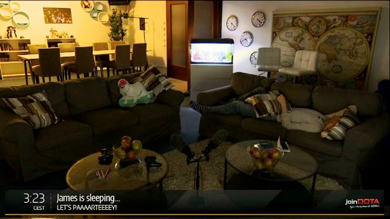 TI5 James sleeping