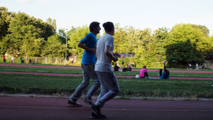 bOne7 and ppasarel, during one of their running sessions