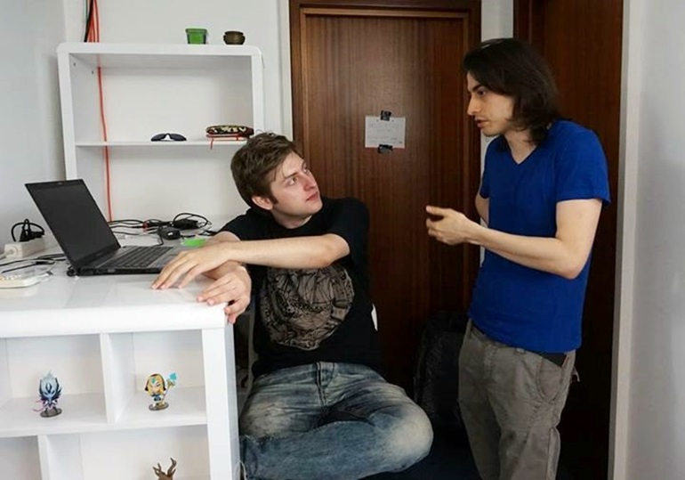 ppasarel and bOne7, at the PGL Studios, in Bucharest