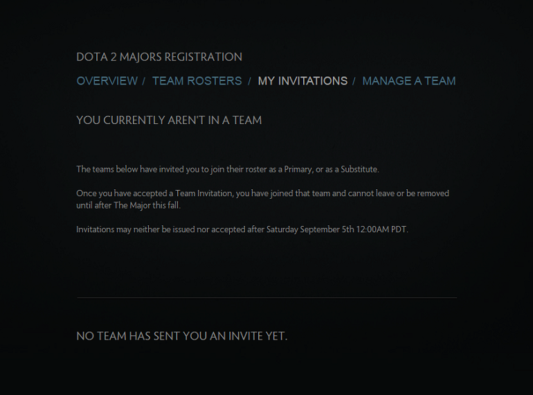 Dota 2 Majors player invitations