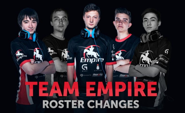 Team Empire bid farewell to yoky and ALWAYSWANNAFLY, welcome former XX5 player