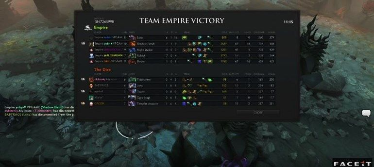 Dota Major Open Qualifiers Team Empire