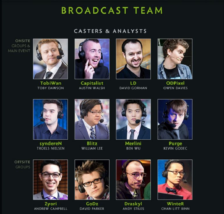 Dota 2 Frankfurt Major broadcast team