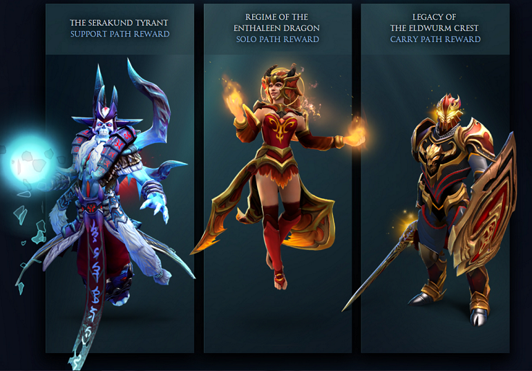Dota 2 Winter 2016 Battle Pass path rewards