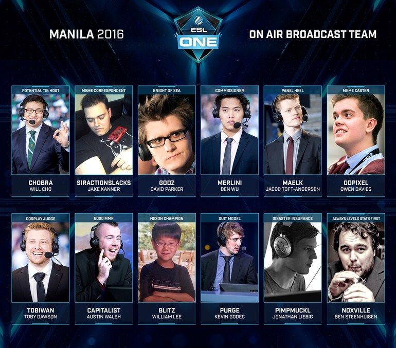 ESL One Manila talent announced