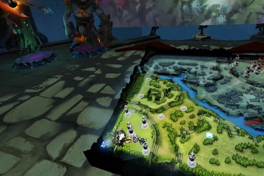 Dota 2 HTC Vive Dota 2 map