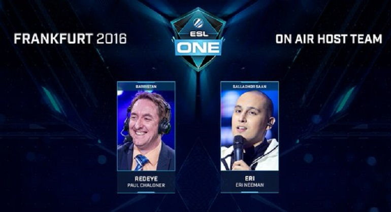 Dota 2 ESL One Frankfurt 2016 hosts