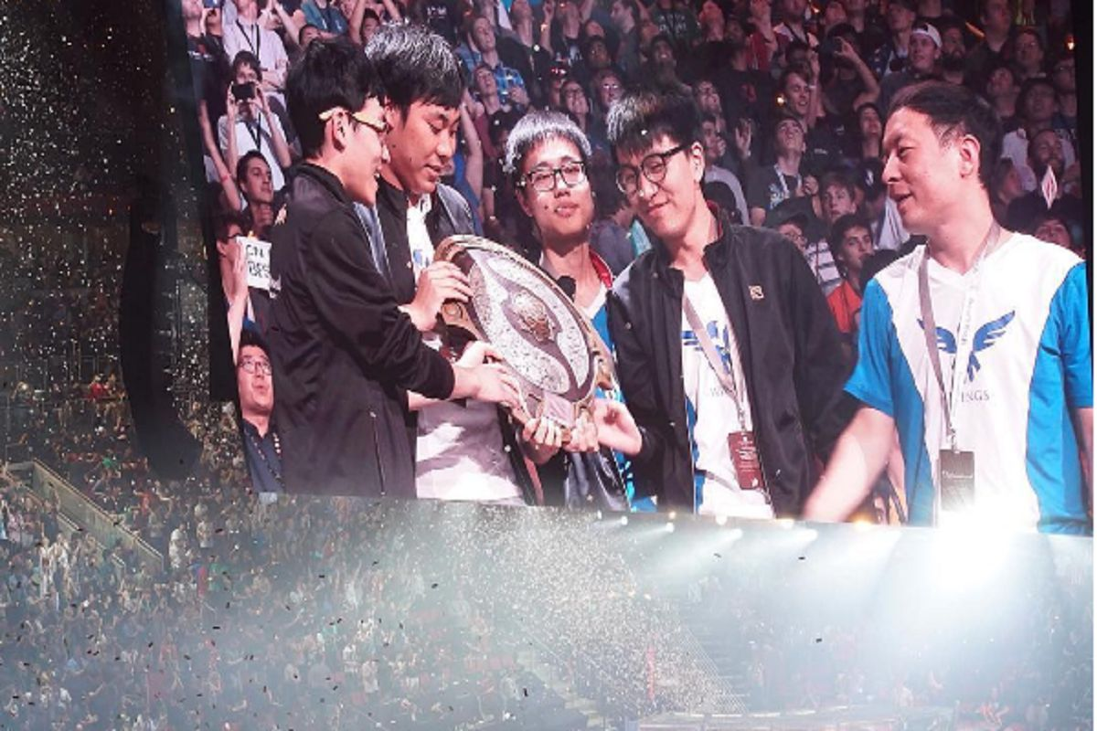 Dota 2 Wings Gaming TI6 winners