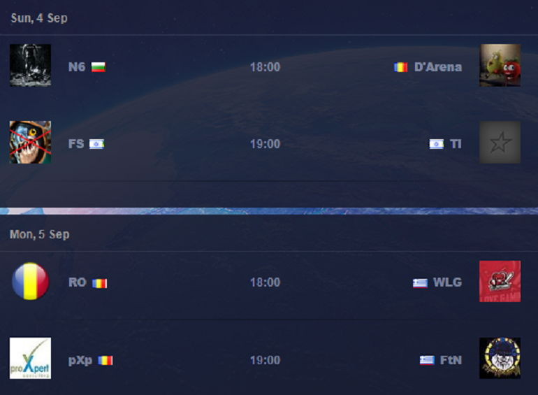 South-East Europe qualifieris schedule1