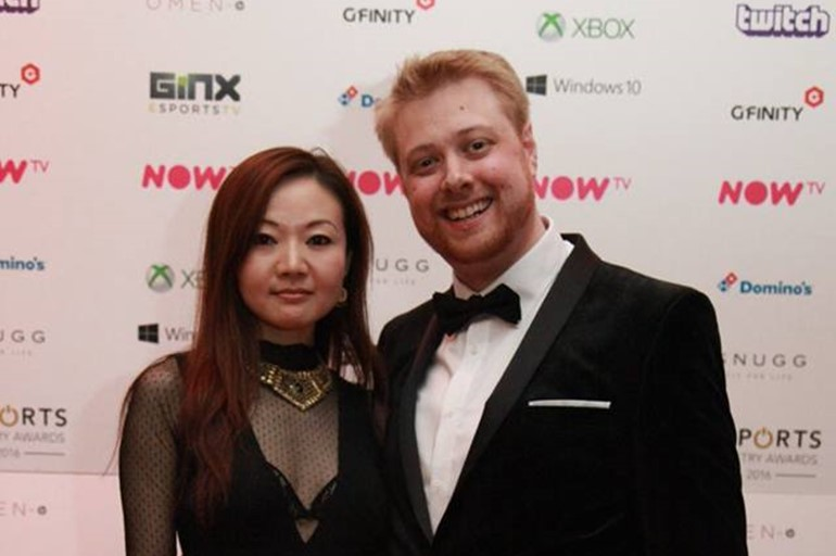 Tobiwan attending the Esports Industry Awards gala