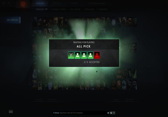 Changes in MatchMaking; No ranked group games, Random Draft & Captains Mode out of Solo Queue