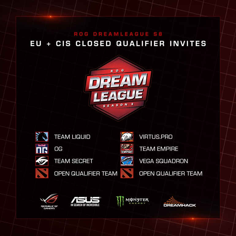 ROG DreamLeague Season 8 EU CIS invites